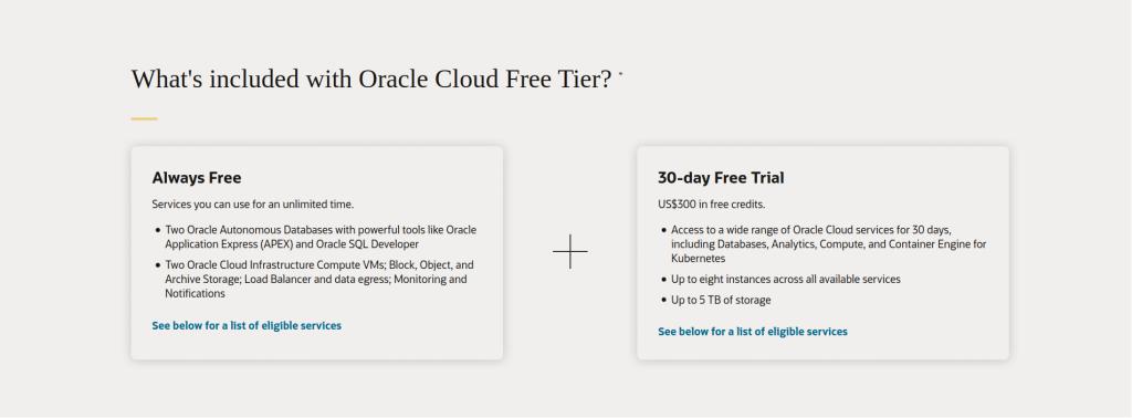 server gratis oracle
